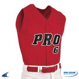 Pro Mesh Full Button Sleeveless Baseball Jersey By Champro