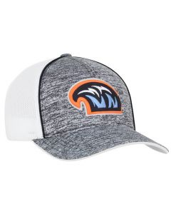 106C Heather Trucker Snapback Adjustable Hat with 3D Custom Embroidery by Pacific Headwear FREE SHIPPING