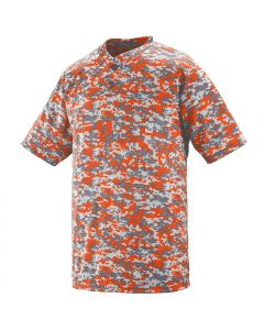 Youth 2-Button Digi Camo Jersey by August Sportswear Style Number 1556
