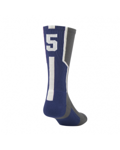 Player ID Number Socks by TCK Graphite-Navy-White