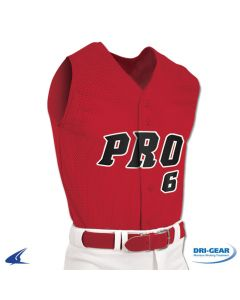 Pro Mesh Full Button Sleeveless Baseball Jersey by Champro Sports Style Number: BS6