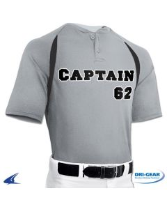 Captain 2-Button Baseball Jersey by Champro Sports Style Number: BST62