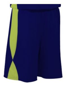 Overdrive Performance Reversible Youth Basketball Shorts 7 Inch Inseam by Teamwork Athletic Style Number 4412