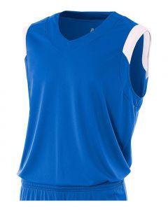 V-Neck Muscle Basketball Jersey by A4 Sportswear N2340