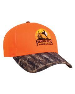 680C Blaze Orange Camo Velcro Adjustable Hat by Pacific Headwear