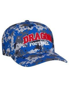 708F Digital Camo Performance Hats with 3D Custom Embroidery Universal Fit by Pacific Headwear FREE SHIPPING