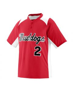 Youth Gamer 2-Button Baseball Jersey by Augusta Sportswear Style Number 1521