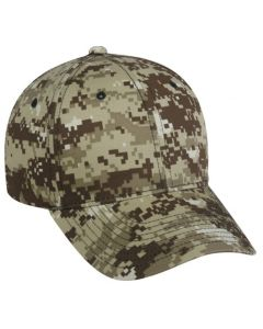 Adjustable Structured Digital Camo Cap by Outdoor Cap Style Number DC 610