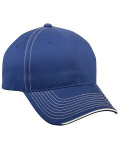 Brushed Twill Hook/Loop Adjustable Hat by OC Sports BTP-100