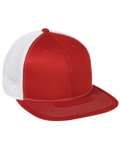 Twill Front Trucker Mesh Adjustable Hat by OC Sports MBW-700
