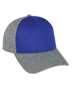 Twill Front Jersey Back Plastic Snap Adjustable Hat by OC Sports JK-100