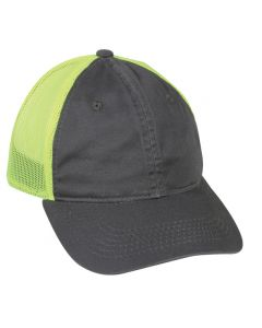 Garment Washed Adjustable Hat with Mesh Back by OC Sports FWT-130