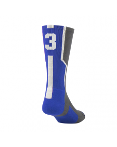 Player ID Number Socks by TCK Graphite-Royal-White
