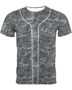 New Youth Storm Sublimated Digital Camo Baseball Jersey by Teamwork Athletic Style Number 8860