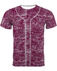 New Adult Storm Sublimated Digital Camo Baseball Jersey by Teamwork Athletic Style Number 8820