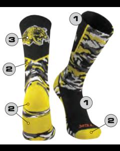 Custom Woodland Camo Socks by TCK FREE SHIPPING