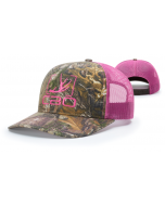 112P Pink Printed Trucker Mesh Adjustable Hat by Richardson Cap