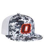 8D8 Digital Camo Trucker Mesh Hat with 3D Custom Embroidery Universal Fit by Pacific Headwear FREE SHIPPING