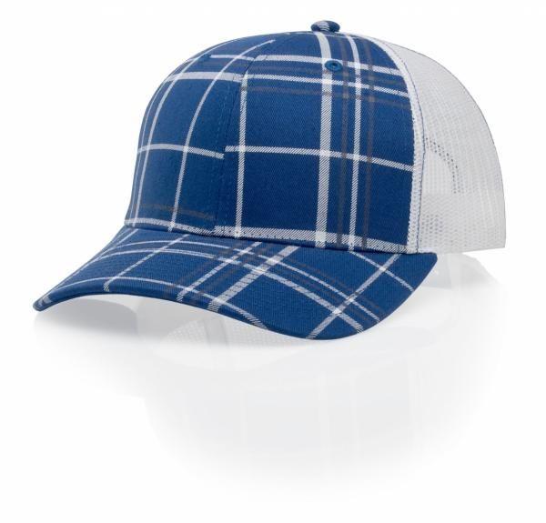 c683fa8e45fbc3 114 Plaid Twill Trucker Mesh Adjustable Hat by Richardson Caps