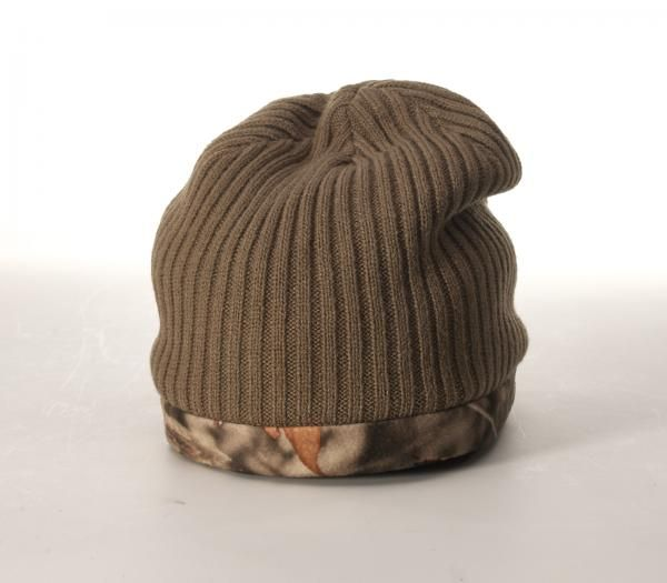 522c71f0685d3 133 Reversible Camo Knit Beanie with Fleece by Richardson Cap.  Driftwood Woodland Shadow