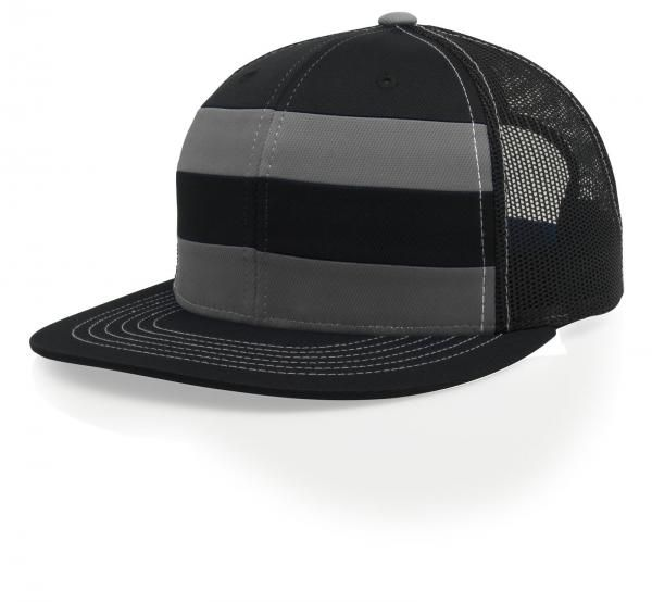 0f0e49f5db0fd 162 Striped Front Trucker Mesh Adjustable Hat Pulse by Richardson ...