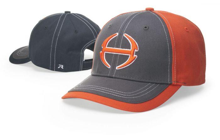 275 Charcoal Color Block Adjustable Hat by Richardson Caps 194f5fa6333