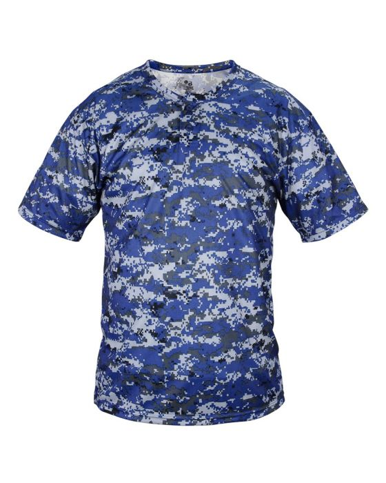 727cb7914fa Digital Camo Two Button Jersey by Badger Sports Style Number 7980