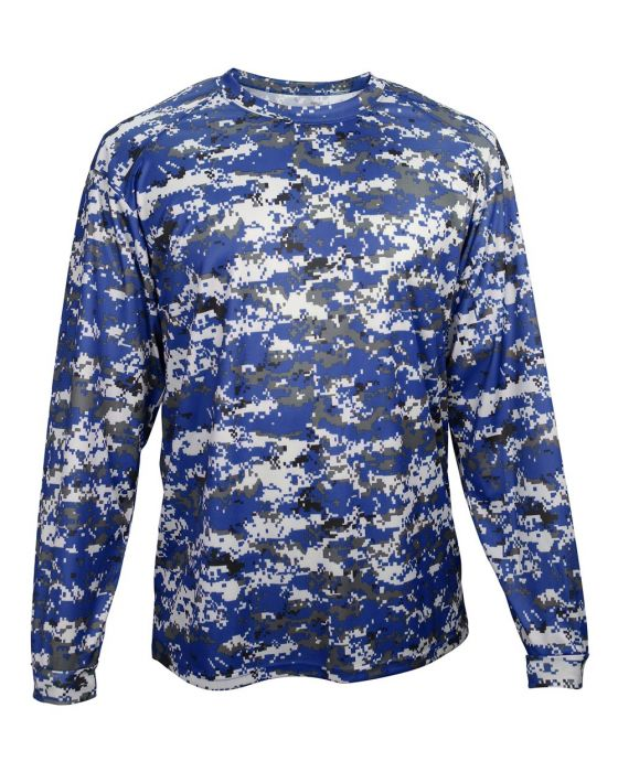 2fffeda3c 2184 Youth Digital Camo Long Sleeve Shirt by Badger Sport