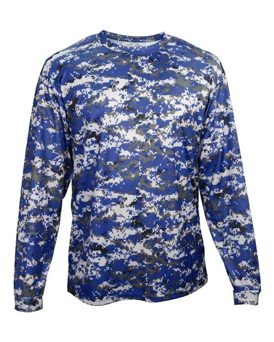 7e76bb0c 2184 Youth Digital Camo Long Sleeve Shirt by Badger Sport