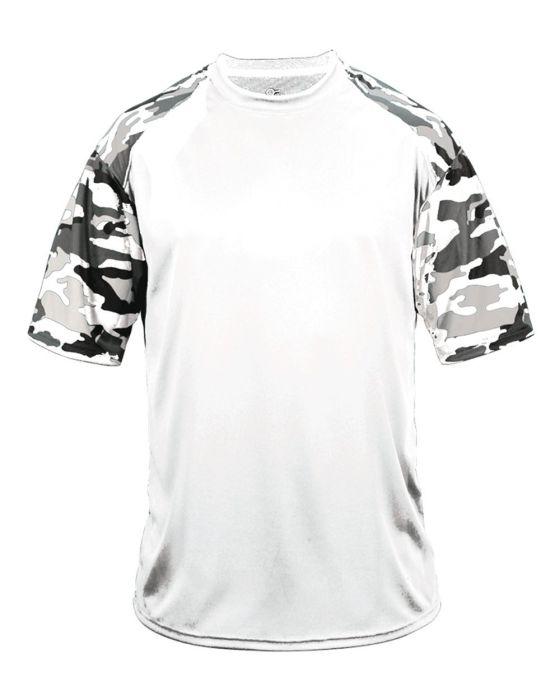2141 Badger Sportswear Youth Self Fabric Polyester Camo Sport Performance Tee