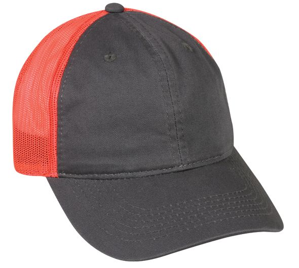 e8ece35637f FWT-130 Garment Washed Adjustable Hat with Mesh Back by OC Sports