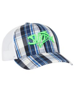 109C Plaid Trucker Mesh Adjustable Hat with 3D Custom Embroidery by Pacific Headwear FREE SHIPPING