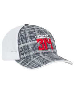 111C Crosshatch Trucker Mesh Adjustable Hat by Pacific Headwear