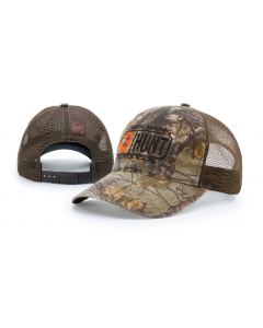 111P Garment Washed Camo Printed Trucker Mesh Adjustable Hats by Richardson Cap