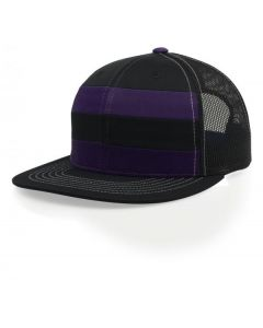 162 Striped Front Trucker Mesh Adjustable Hat Pulse by Richardson Caps