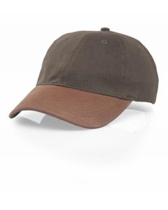 236 Brushed Cotton Twill with Leather Visor Adjustable Hat by Richardson Caps