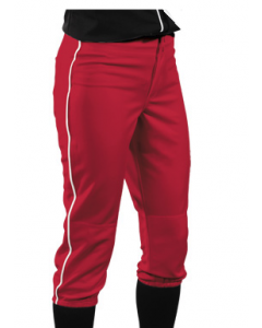 Girl's 12 oz Low Rise Piped Softball Pants by Teamwork Athletic Style Number 3263