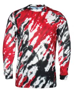Tie Dri Long Sleeve Performance Shirt by Badger Sport Style Number 4185