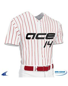 Pro-Style Warp Knit Full Button Baseball Jersey by Champro Sports Style Number: BS14