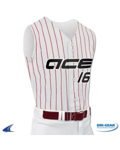 Pro-Style Sleeveless Warp Knit Full Button Baseball Jersey by Champro Sports Style Number: BS16