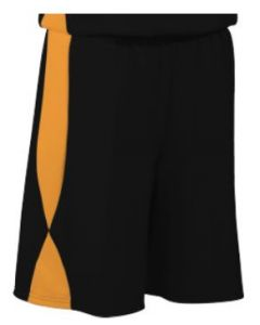 Overdrive Performance Reversible Basketball Shorts 11 Inch Inseam by Teamwork Athletic Style Number 4438