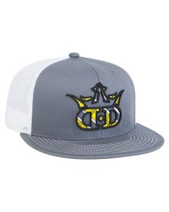 4D3 Flat Bill Trucker Mesh Snapback Cap by Pacific Headwear