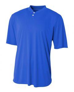 Tek 2-Button Henley Jersey by A4 Sportswear N3143
