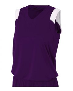 Women's V-Neck Muscle Basketball Jersey by A4 Sportswear NW2340