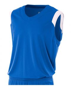 V-Neck Muscle Basketball Jersey by A4 Sportswear N2340