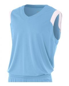 Youth V-Neck Muscle Basketball Jersey by A4 Sportswear NB2340