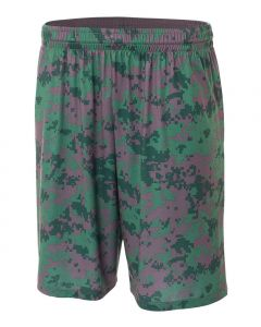 "10"" Digital Camo Basketball Short by A4 Sportswear N5322"