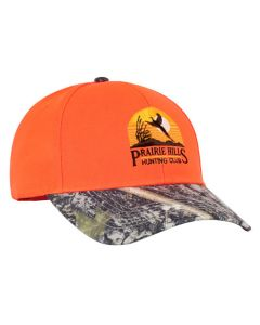 680C Blaze Orange Camo Adjustable Hat by Pacific Headwear with 3D Custom Embroidery Front FREE SHIPPING