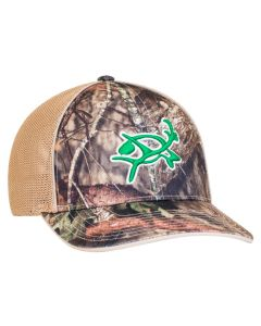 694M Camo Trucker Mesh Hat Universal Fit by Pacific Headwear with 3D Custom Embroidery FREE SHIPPING