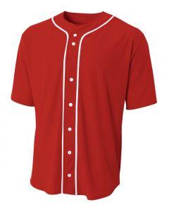 Youth Full Button Baseball Jersey by A4 Sportswear NB4184